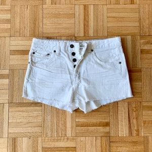 Free People White Cutoffs